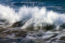 Sea water in motion