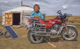 Environmental Portrait of a Motorbike