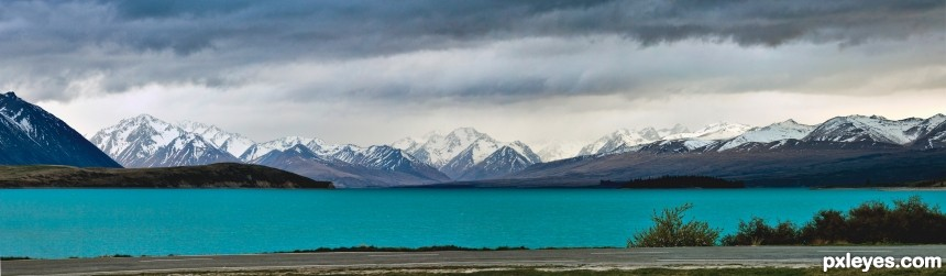 Lake Tekapo photoshop picture)