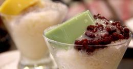 Green Tea Pudding + Red bean
