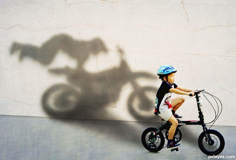 When I grow old, Ill be a stunt biker!