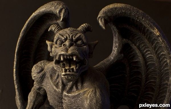 Gargoyle photoshop picture)