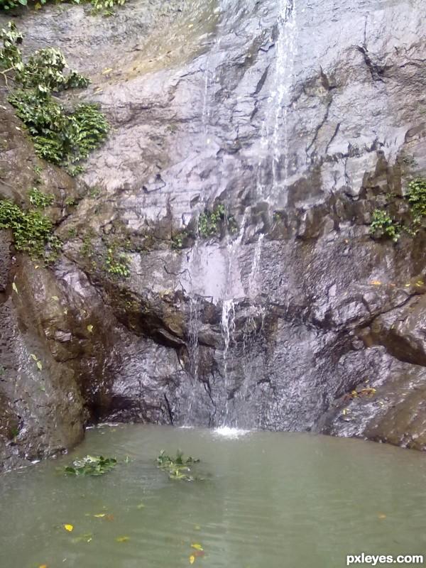 A hidden waterfall