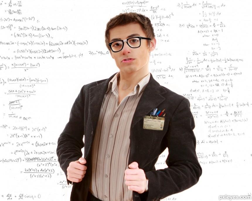 math nerd photoshop picture)