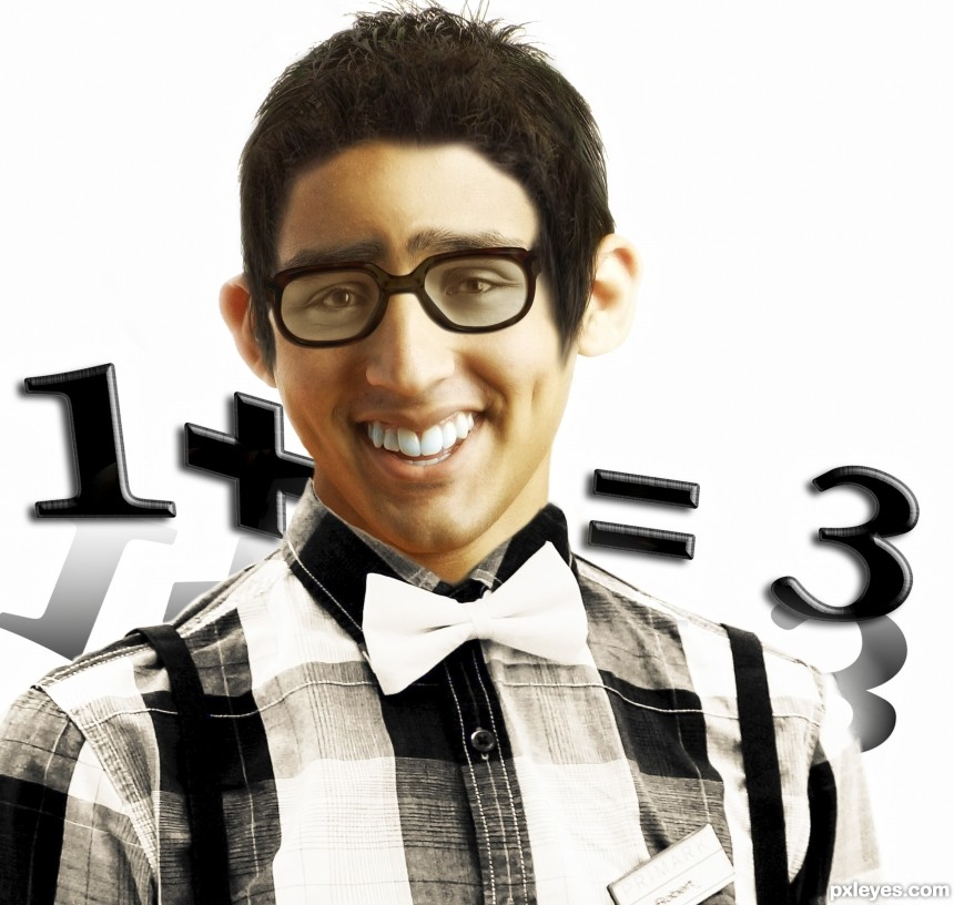 mathematical nerd photoshop picture)