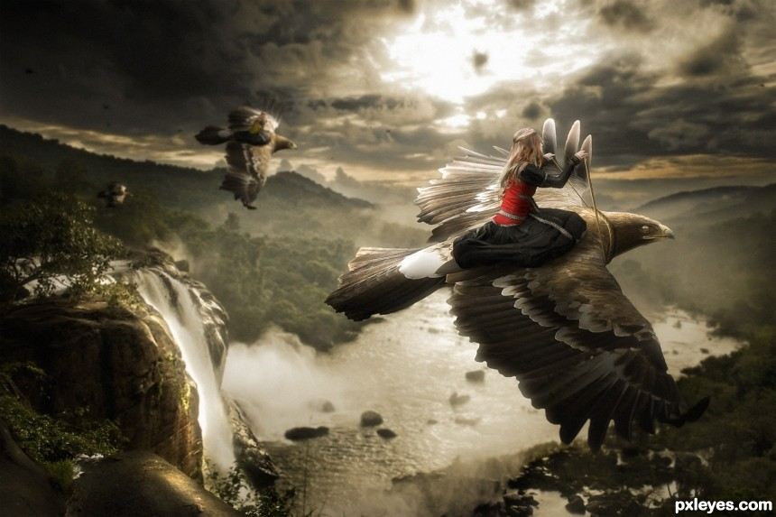 Flying With The Eagles photoshop picture)