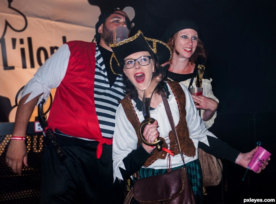 Singing pirate songs