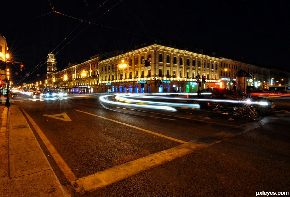 Night in Saint Petersburg
