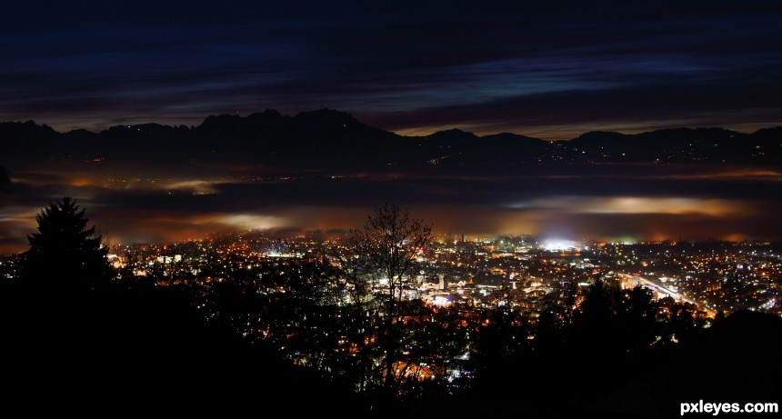 Dornbirn City photoshop picture)