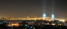 my city with night lights