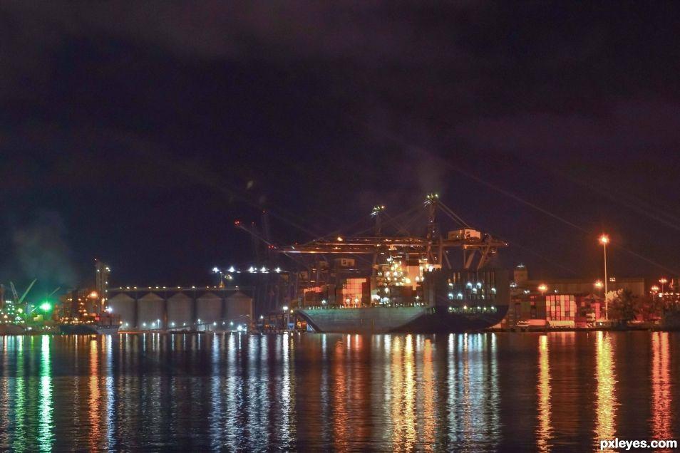 Veracruz harbor