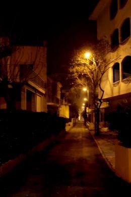 Night,street,stones.