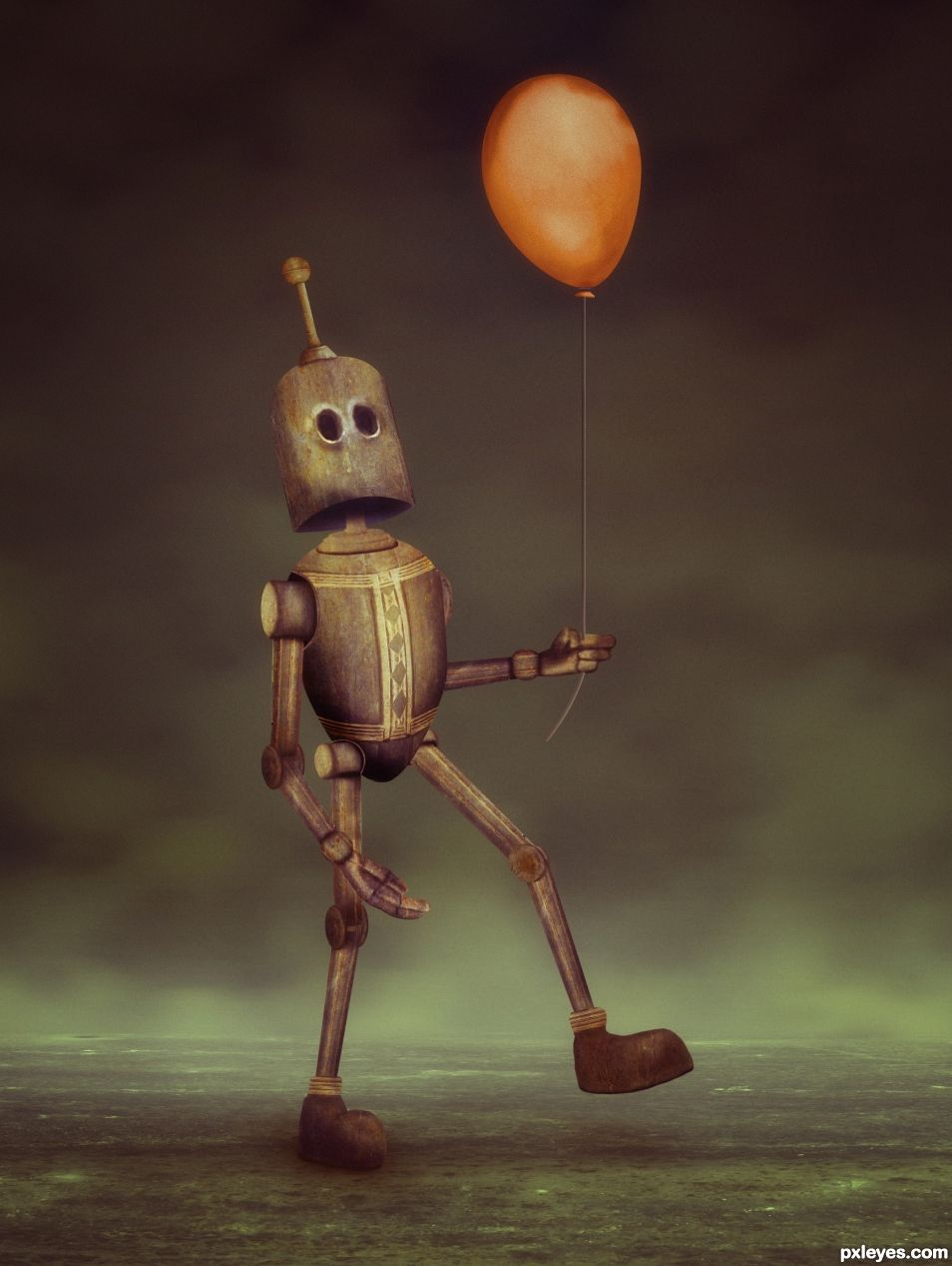 Creation of Robot and His Balloon: Final Result