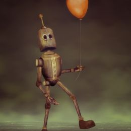 Robot and His Balloon Picture