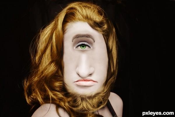 Bearded Cyclops Lady