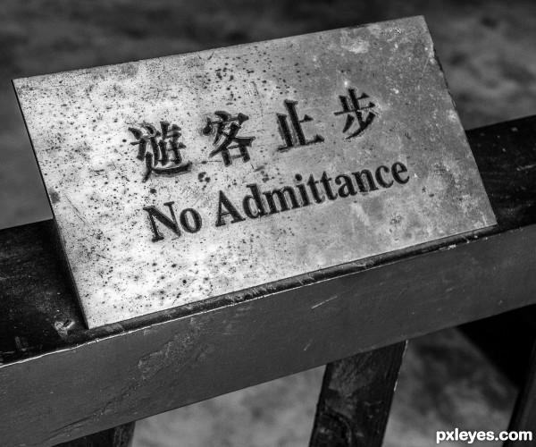 No Addmittance