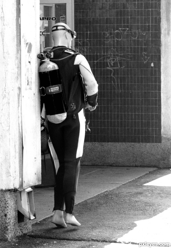 Diver on the Street
