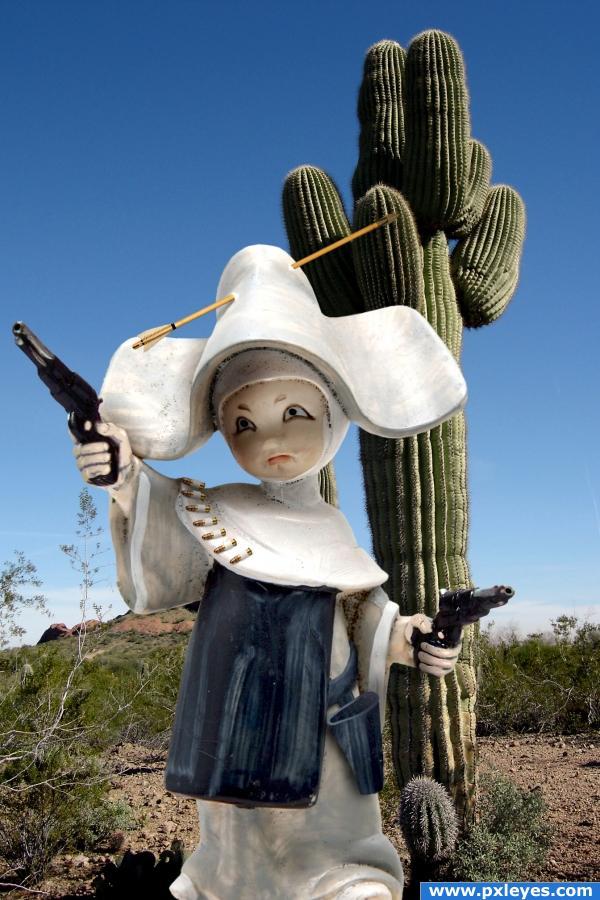 Six-gun nun