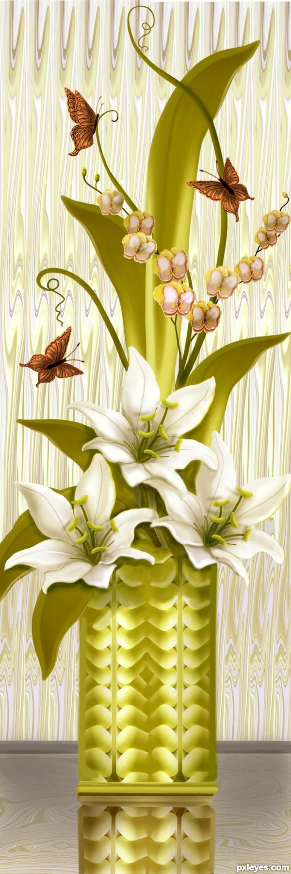 Lilies in Crystal  photoshop picture