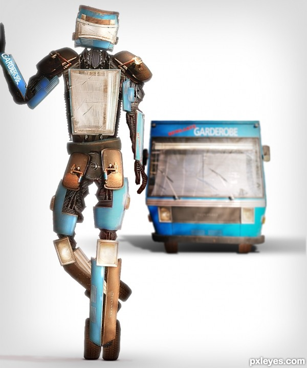 Old Robot photoshop picture)