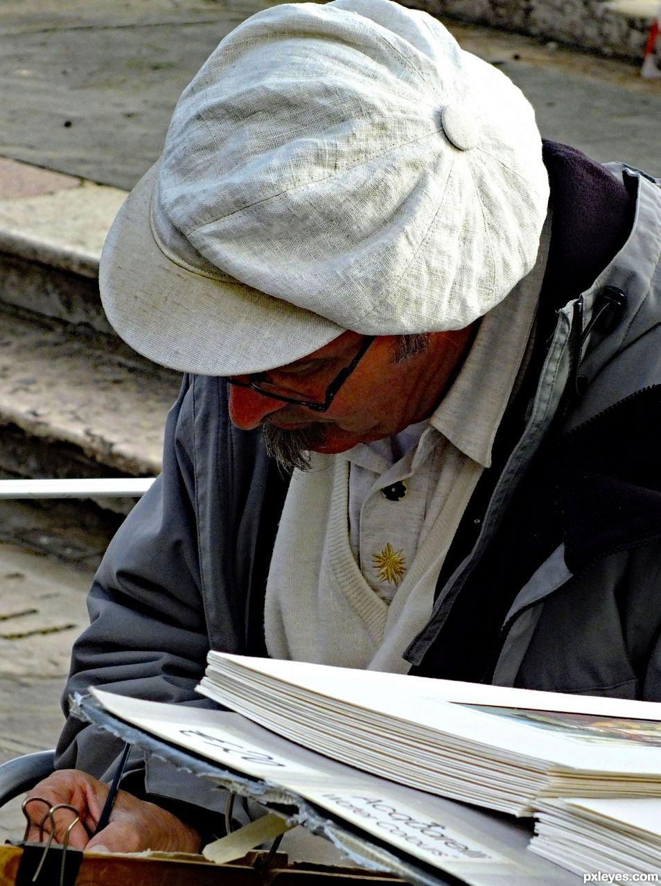 Pavement artist