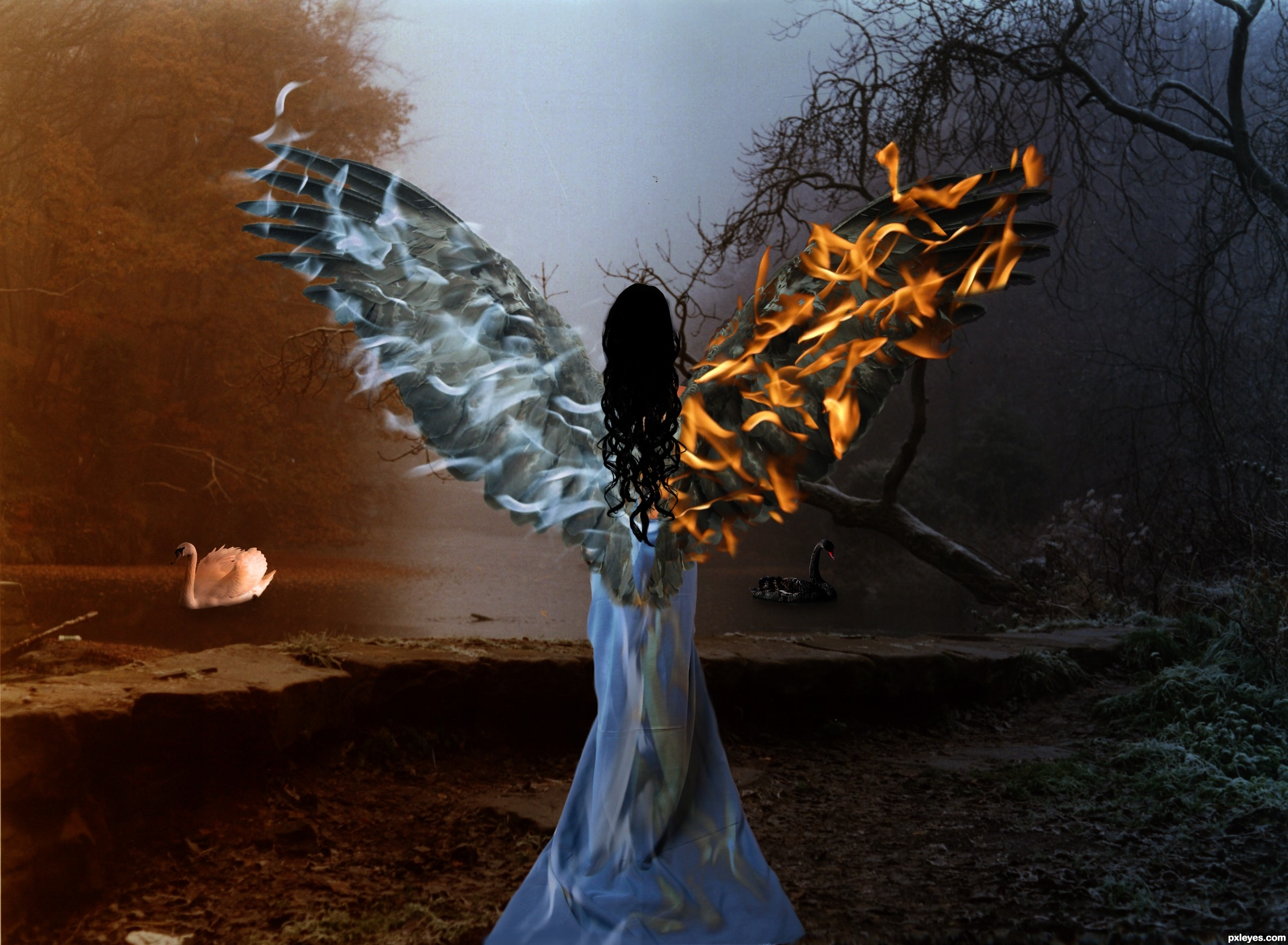 good vs evil picture, by Se7eN0f9 for: opposites photoshop ...