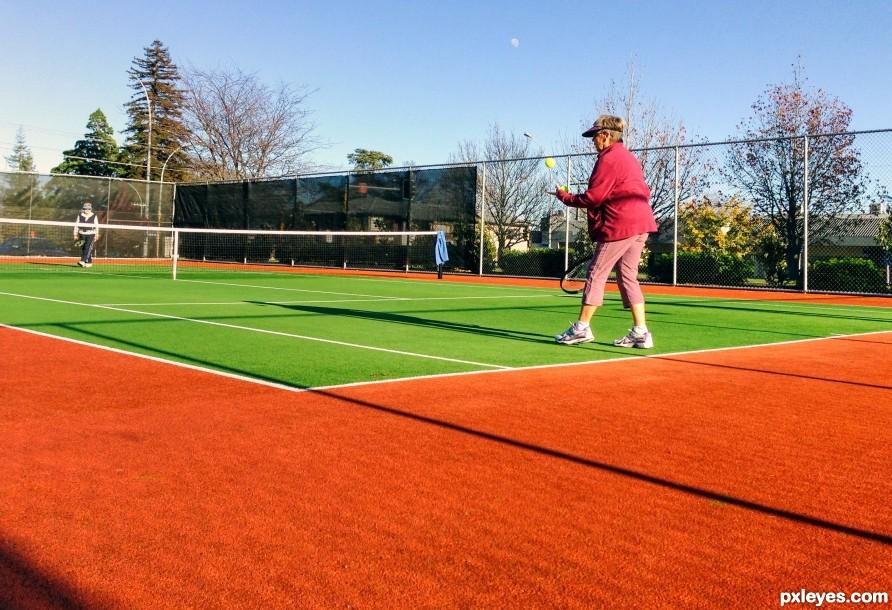 Morning tennis