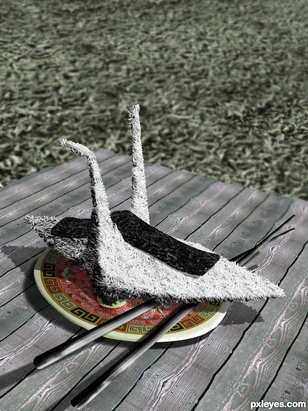Onigiri swan