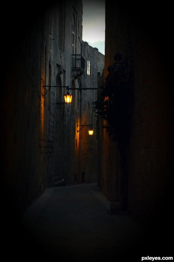 Dark Narrow Street