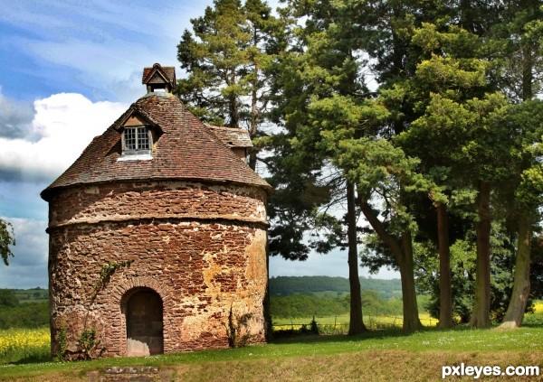 Storage hut in Kyre, England