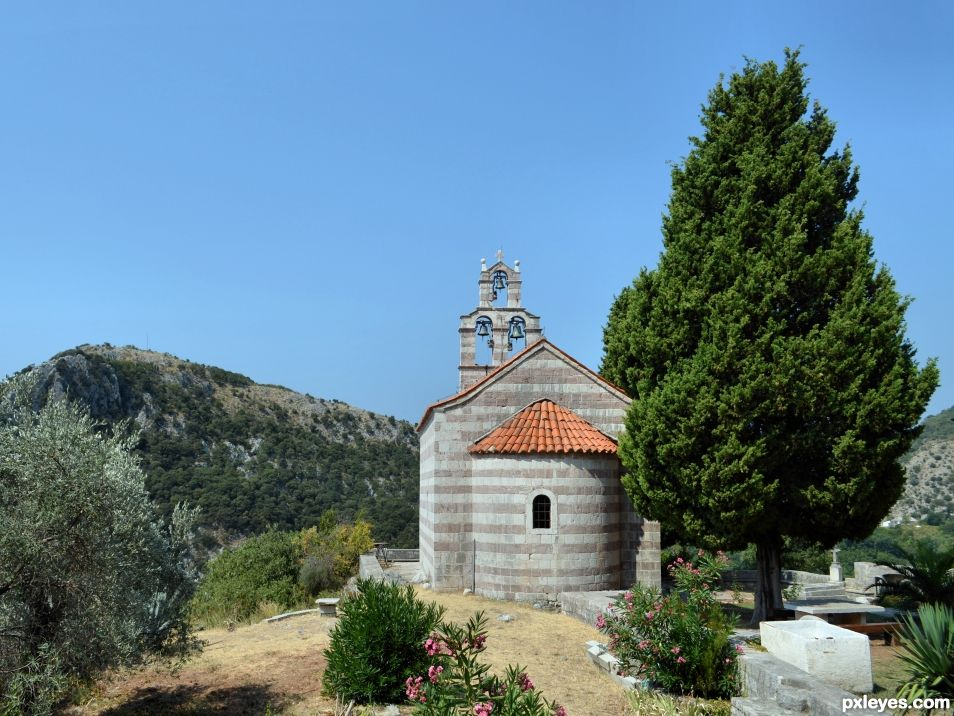 Little church in the mountain