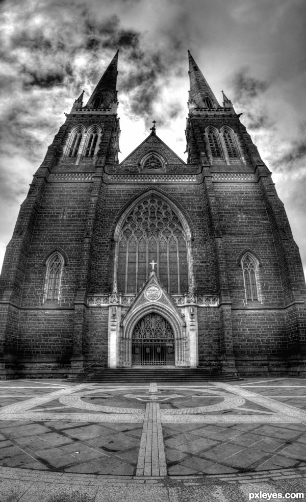 Church in BW
