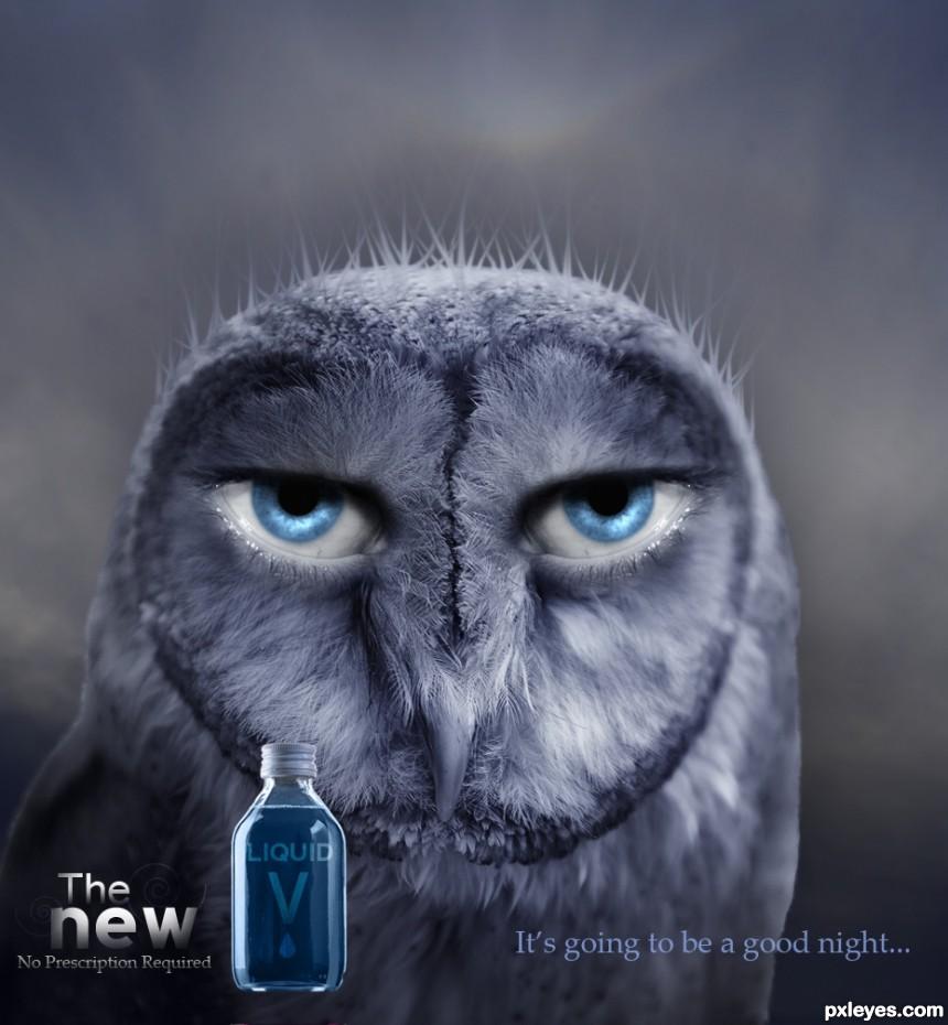 Liquid V Advertisement photoshop picture)
