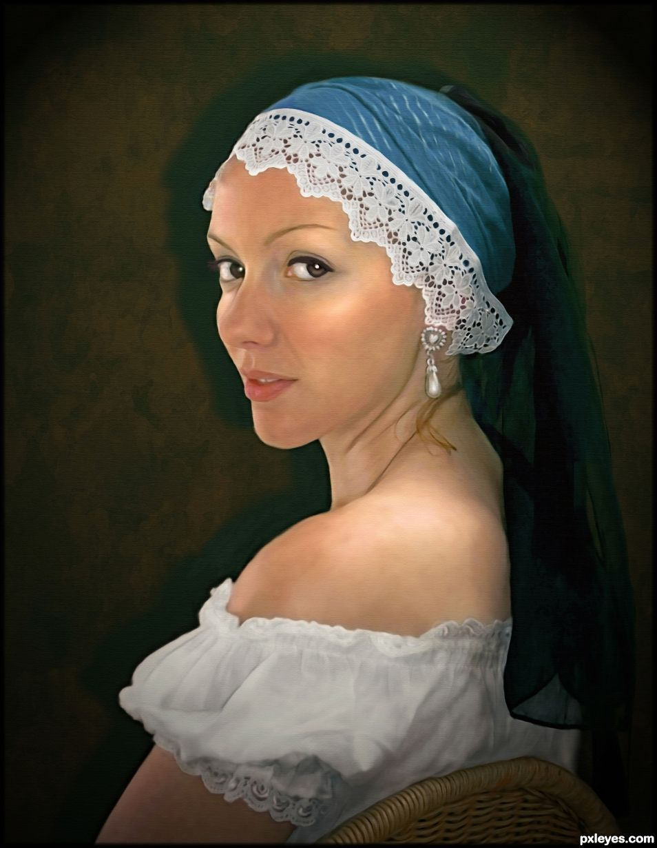 Creation of Girl with pearl earring: Final Result
