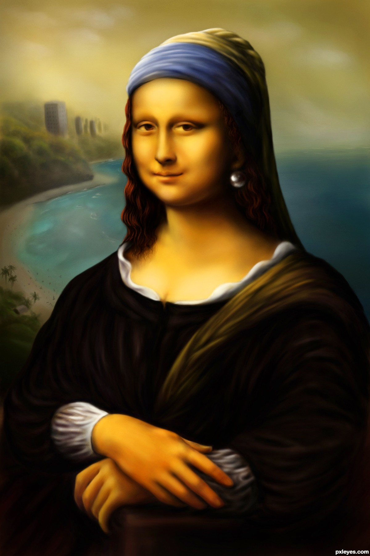 Mona Lisa With A Pearl Earring Picture By Langstrum For Painting