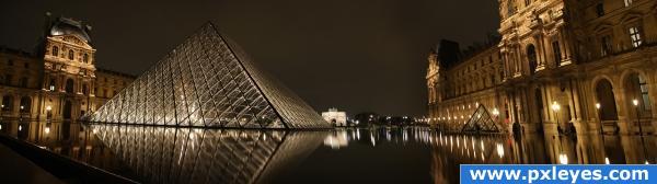 Paris at night. photoshop picture