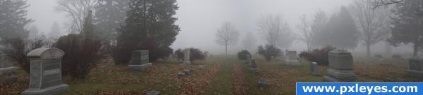 Misty peaceful place.