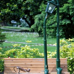 Lamps on the bench  Picture