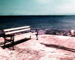 seaside park bench