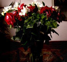 vase full of beautiful flowers