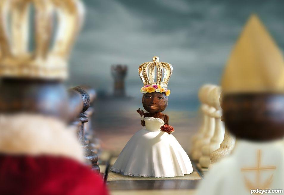 A True Chess Piece Wedding