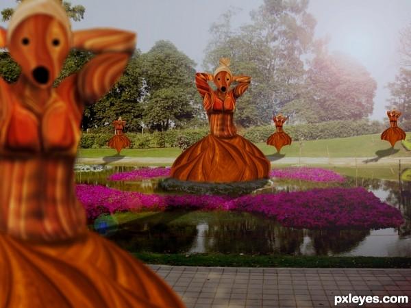 dancing girl park