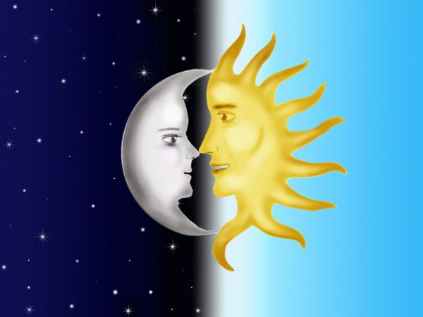 Creation of Far but together  Moon And Sun Together