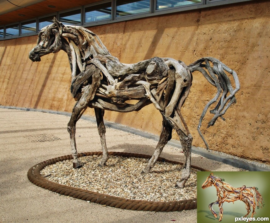 Wooden Horse photoshop picture)