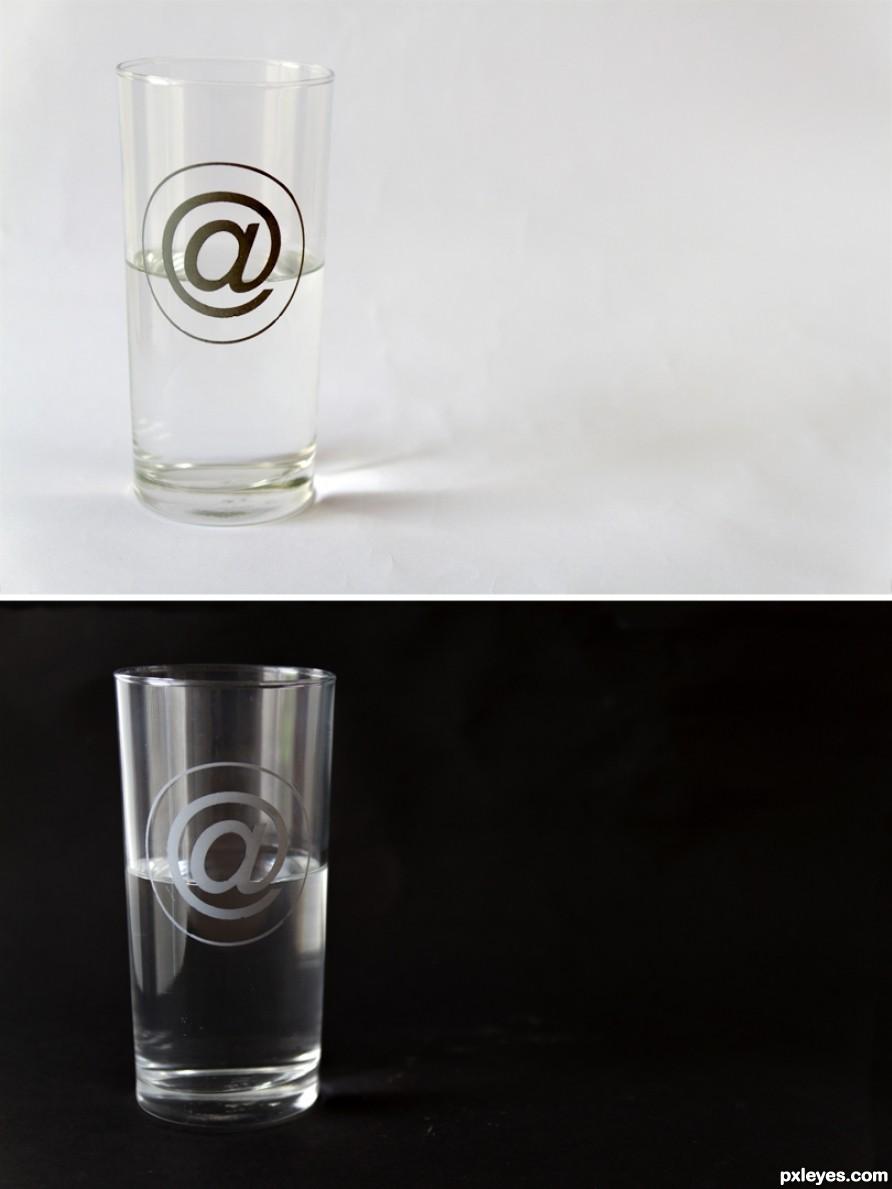Half-empty and half-full