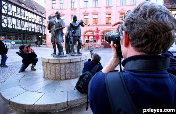 Paparazzi frenzy