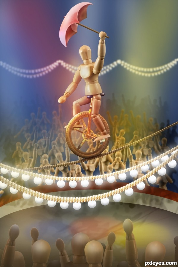 High Wire Act photoshop picture)