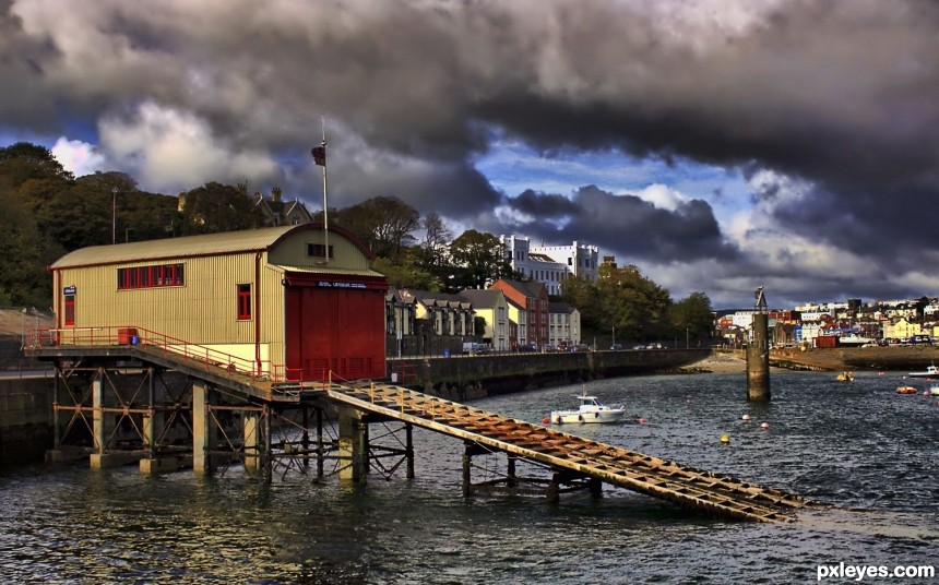 Douglas Lifeboat Station photoshop picture)