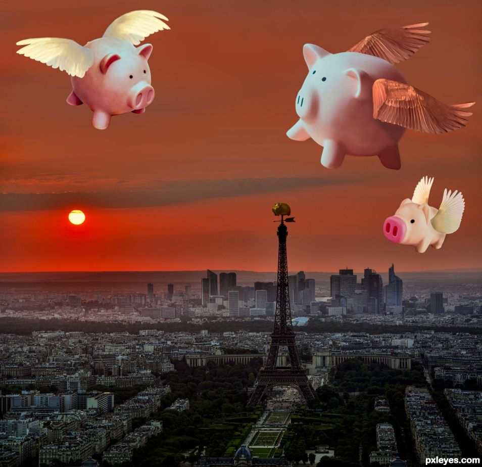When pigs will fly