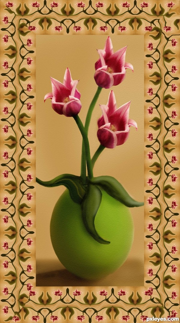 Tulips on Canvas